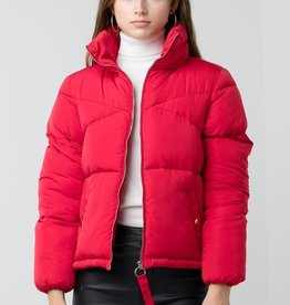 Bow N Arrow Red Quilted Puffer Jacket