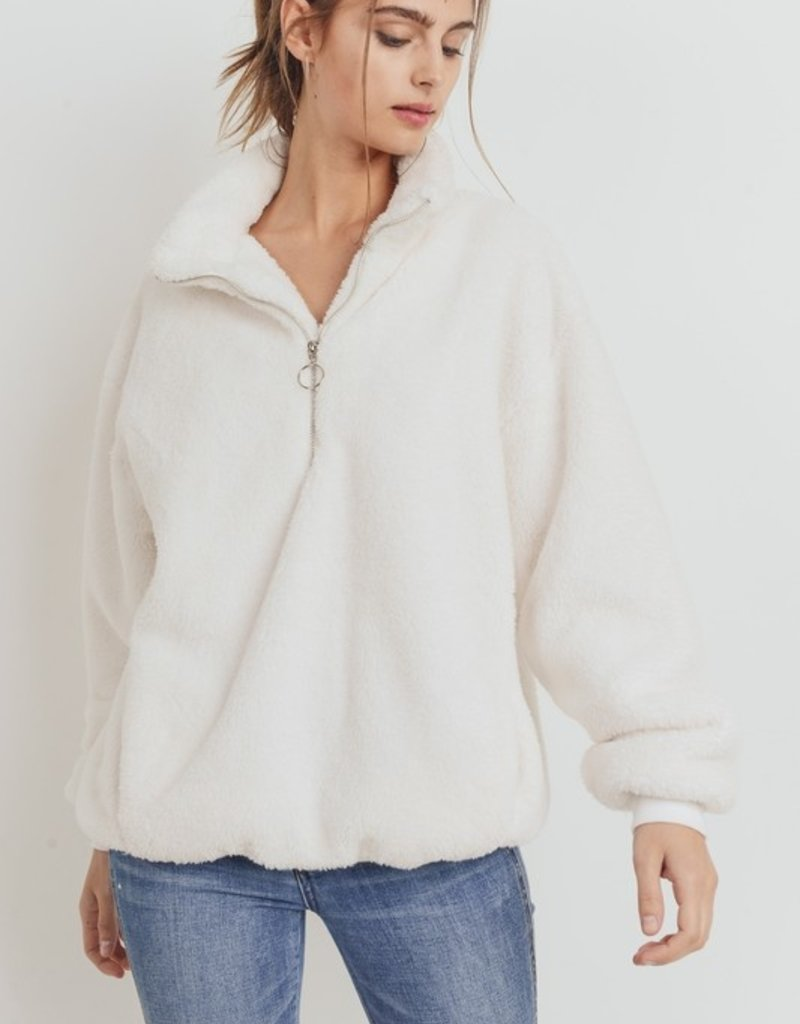 Bow N Arrow White Sherpa Pullover Sweatshirt