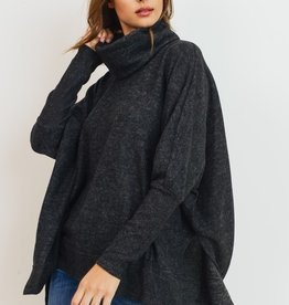 Bow N Arrow Charcoal Cowl Neck Tunic