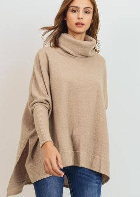 Bow N Arrow Taupe Cowl Neck Tunic