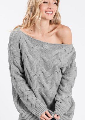 Bow N Arrow Grey Textured Sweater