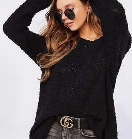 Bow N Arrow Black Popcorn Sweater