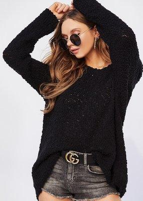 Bow N Arrow Black Popcorn Sweater