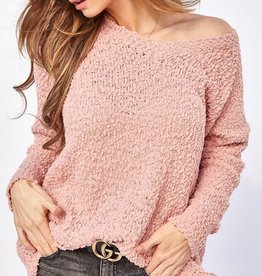 Bow N Arrow Blush Popcorn Sweater