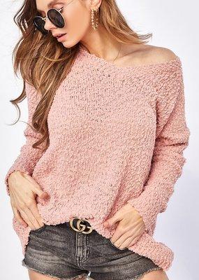 Bow N Arrow Blush Popcorn Sweater