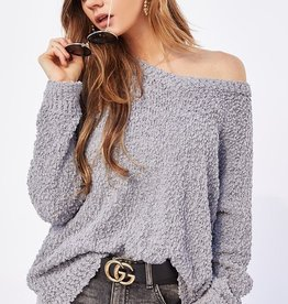 Bow N Arrow Grey Popcorn Sweater
