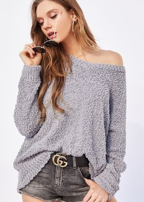 Bow N Arrow Grey Popcorn Sweater