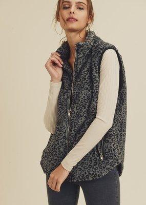 Bow N Arrow Leopard Fur Vest