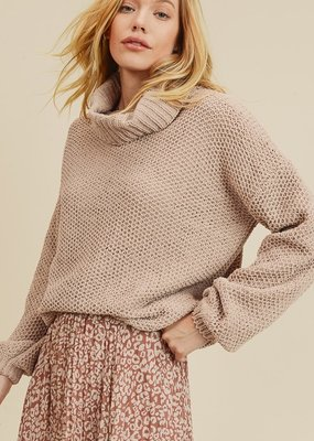 Bow N Arrow Taupe Chunky Turtleneck