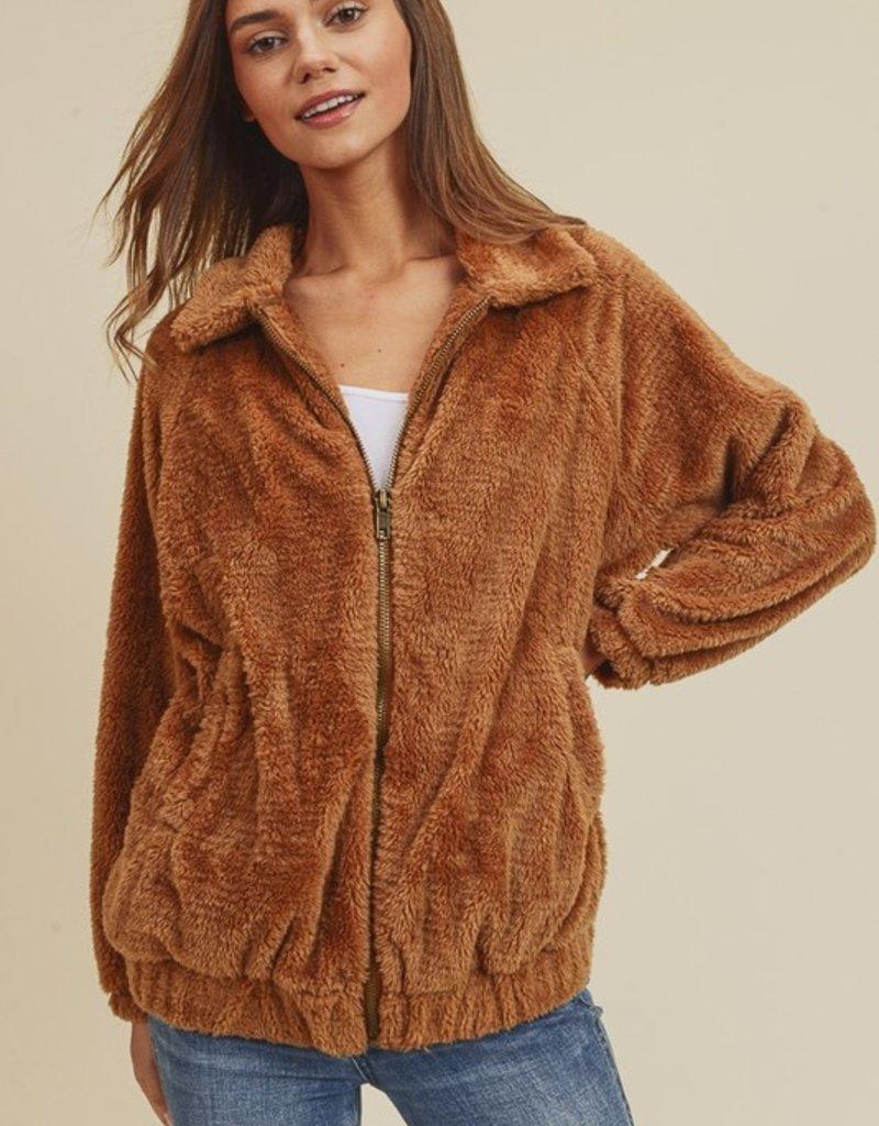 Bow N Arrow Camel Kim Fur Jacket