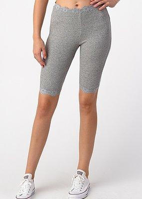 Bow N Arrow Grey Lace Biker Shorts