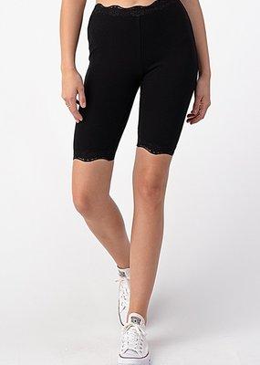 Bow N Arrow Black Lace Biker Shorts