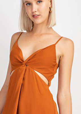 Bow N Arrow Rust Cut Out Dress