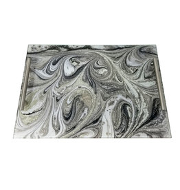 Presented Touch Acrylic Challah Board Grey Marble