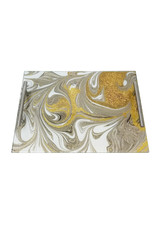 Presented Touch Acrylic Challah Board Gold Marble