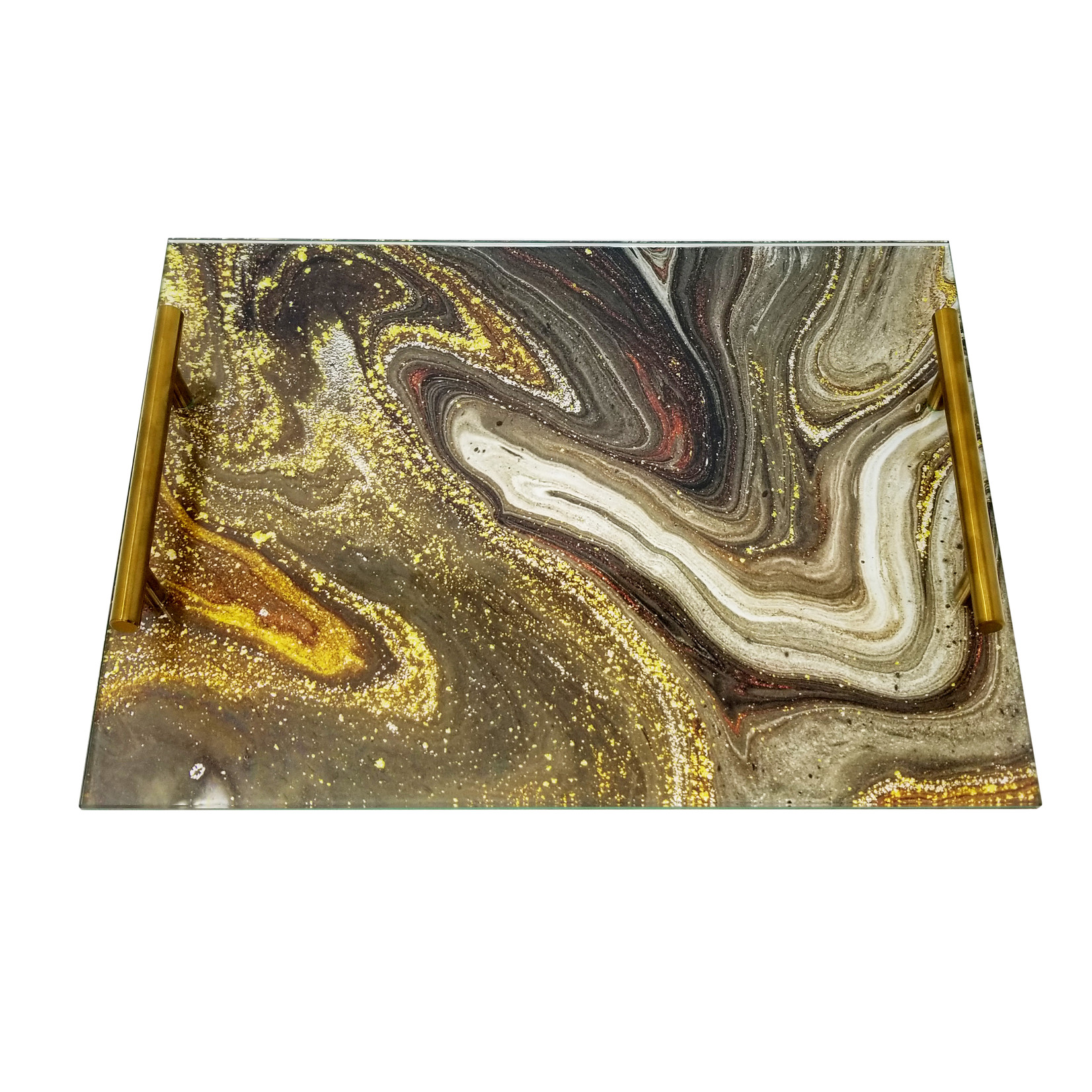 Presented Touch Acrylic Challah Board Black Marble