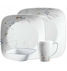 CORELLE SET SQUARE, ADLYN Service For 4