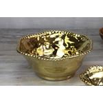 Pampa Bay Pampa Bay Gold Salad Bowl Cer-1142-G