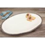 Pampa Bay Pampa Bay Large Oval Platter CER-1723-W