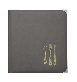 CR Gibson Grey Recipe Organizer