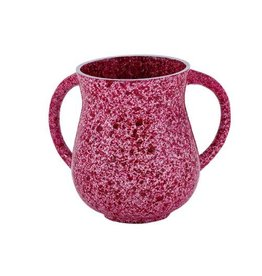 Marble Coated Washing Cup - Maroon NYV-3