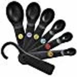 OXO OXO Good Grips 7-Piece Plastic Measuring Spoons, Black