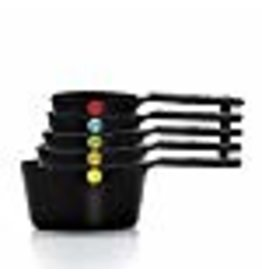 OXO OXO Good Grips Plastic Measuring Cups, 6-Piece, Black