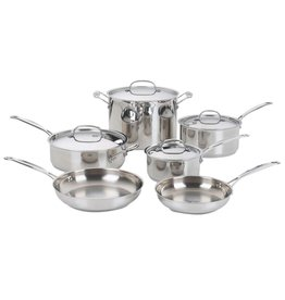 Imperial 2018 Cuisinart 10 Piece CHEFS CLASSIC COOKWARE SS