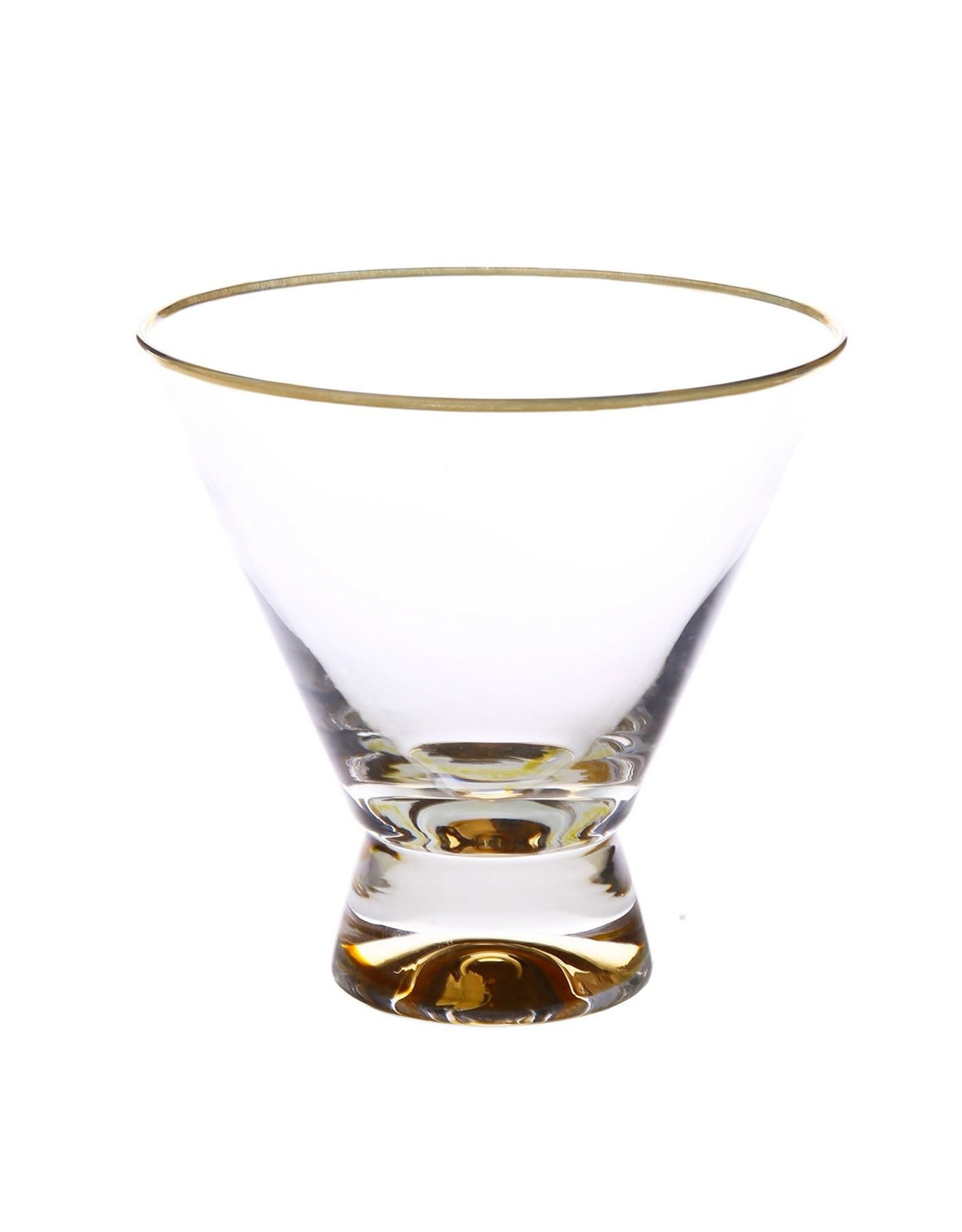 """DG853 Dessert Cups with Gold Base and Rim - 4""""D x 4""""H"""