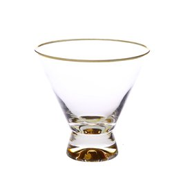 "DG853 Dessert Cups with Gold Base and Rim - 4""D x 4""H"