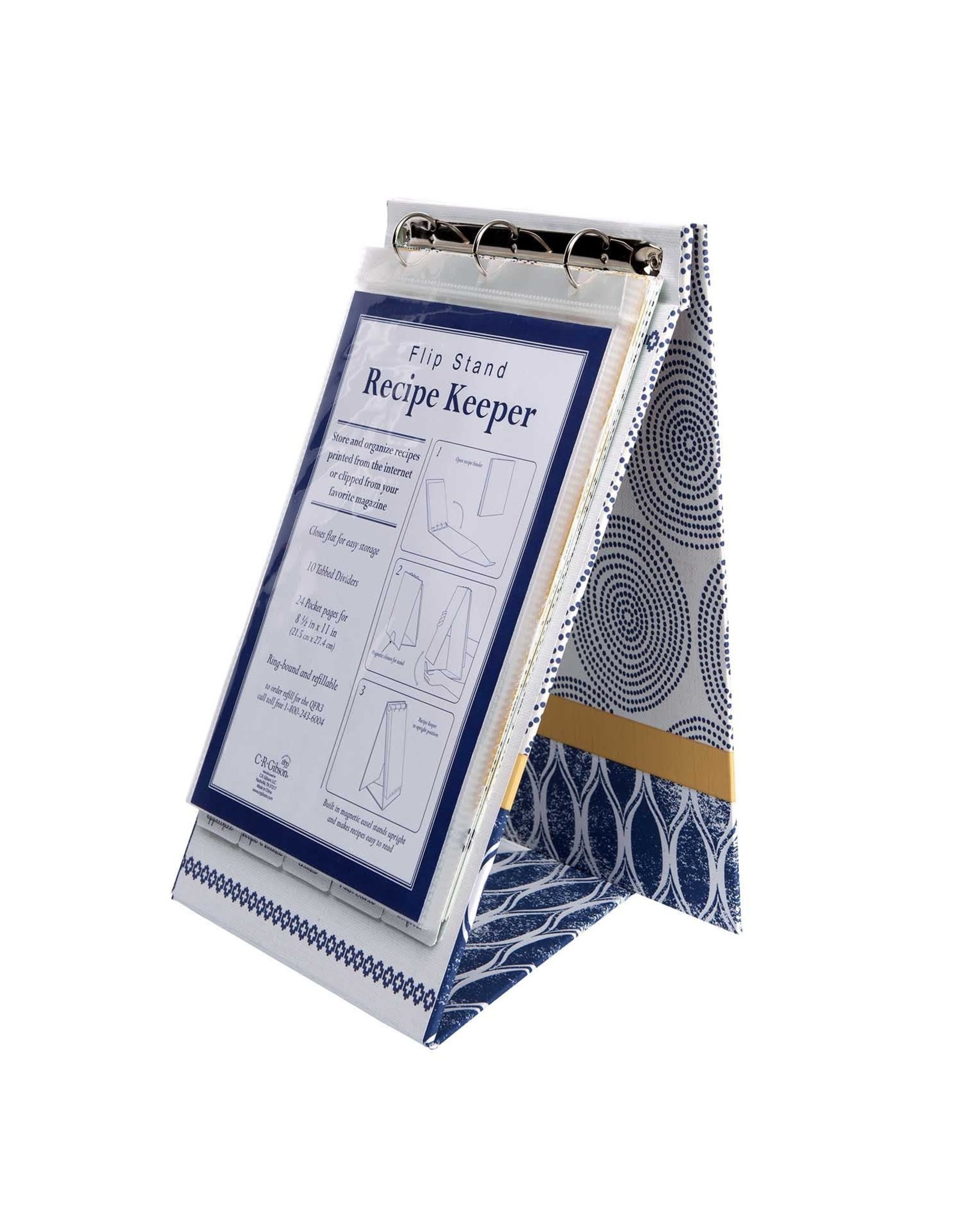 CR Gibson Art Of Cooking Recipe Keeper Flip Stand
