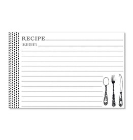 CR Gibson Scrumptious Dots (Black) Recipe Cards