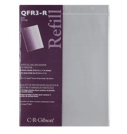 CR Gibson Vertical Recipe Keeper Flip Binder