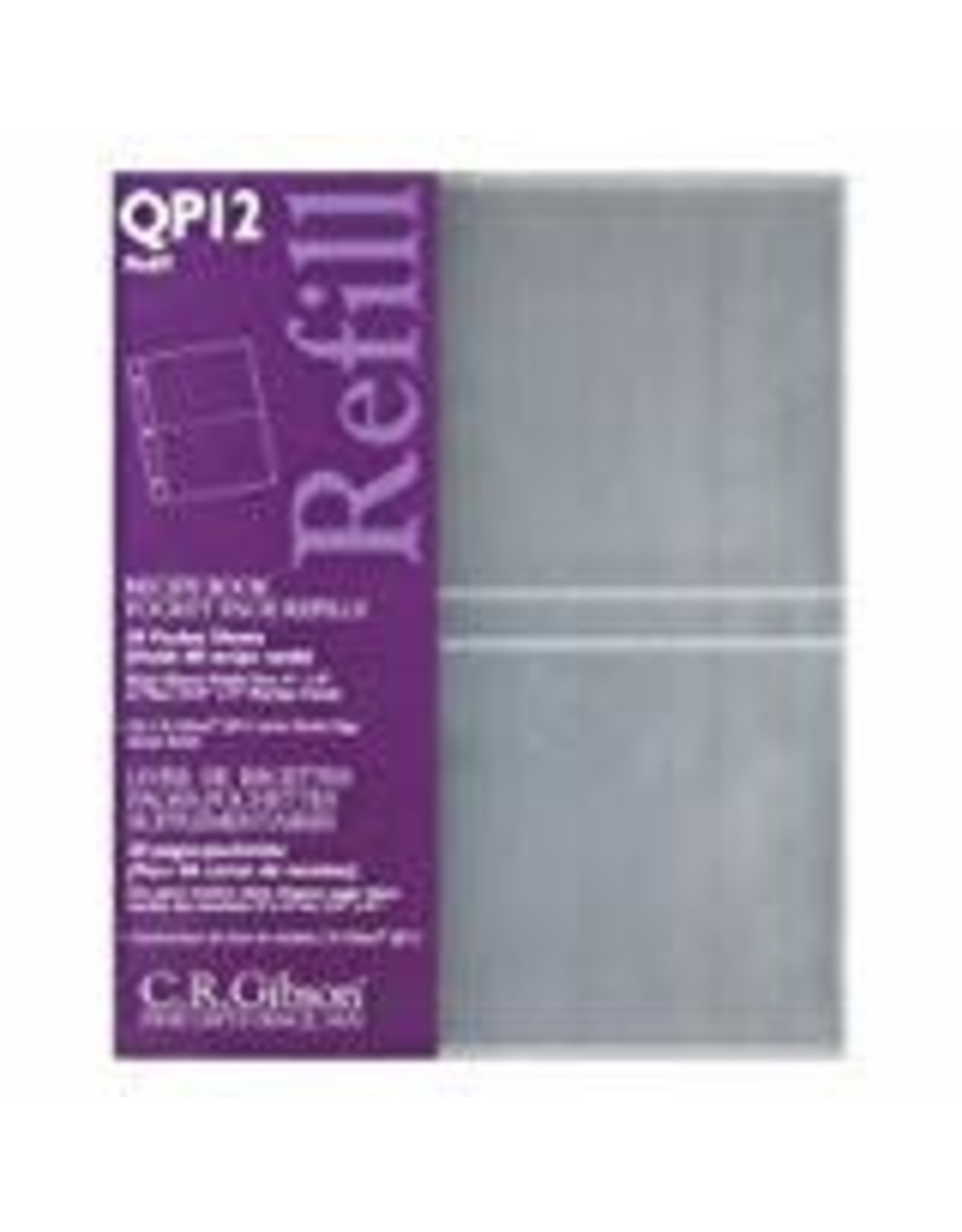 CR Gibson Transparent Pocket Page Refill