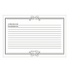 CR Gibson INITIAL GOURMET PLAIN RECIPE CARDS
