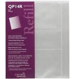CR Gibson 6X4 POCKET PAGE REFILL-PLASTIC