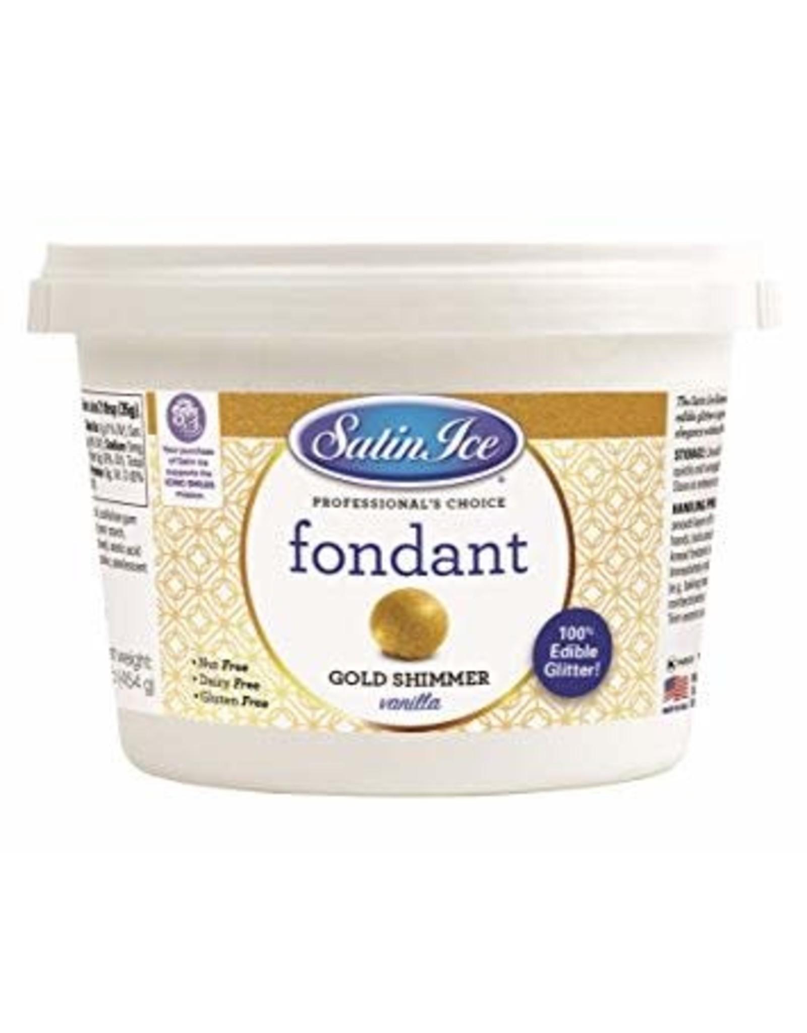 Satin Ice 1 Lb Gold Shimmer Fondant