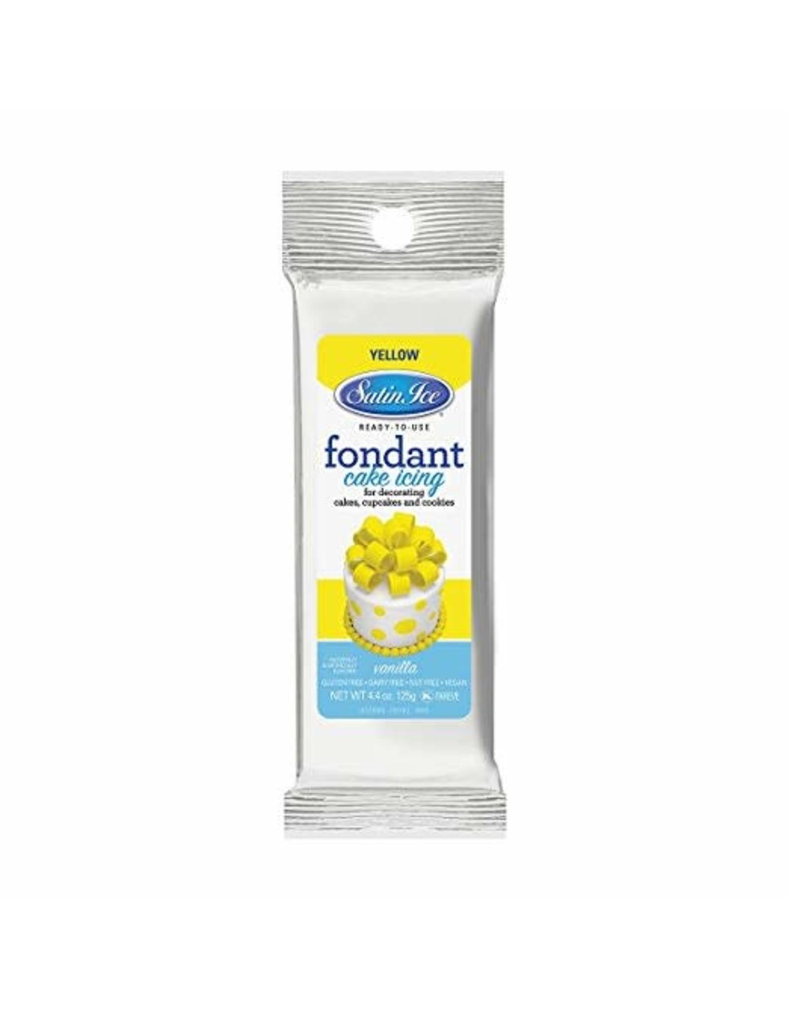 Satin Ice 4.04oz Yellow Fondant