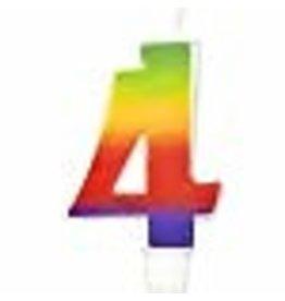 Wilton Wilton W2811-1043 Rainbow Candle, Numeral 4