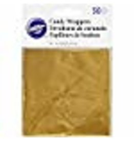 Wilton Wilton Foil Candy Wrappers, 4 by 4-Inch, Gold, 50-Pack