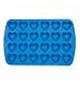Wilton Wilton Easy-Flex Silicone Heart Mold, 24-Cavity for Ice Cubes, Gelatine, Baking and Candy