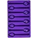Wilton Spoon-Shaped Silicone Candy Mold, Purple