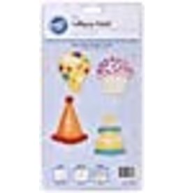 Wilton Wilton 2115-4434 Lollipop Mold Birthday, 4-Cavity/4 Designs