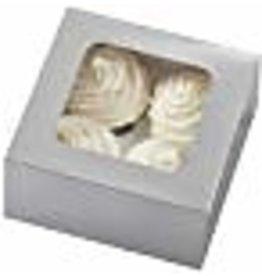 Wilton Wilton 4 Cavity Silver Cupcake Boxes, 3 Count