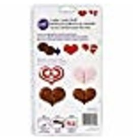 Wilton Wilton Hearts Cookie Candy Mold