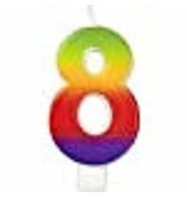 Wilton Wilton W2811-1047 Rainbow Candle, Numeral 8