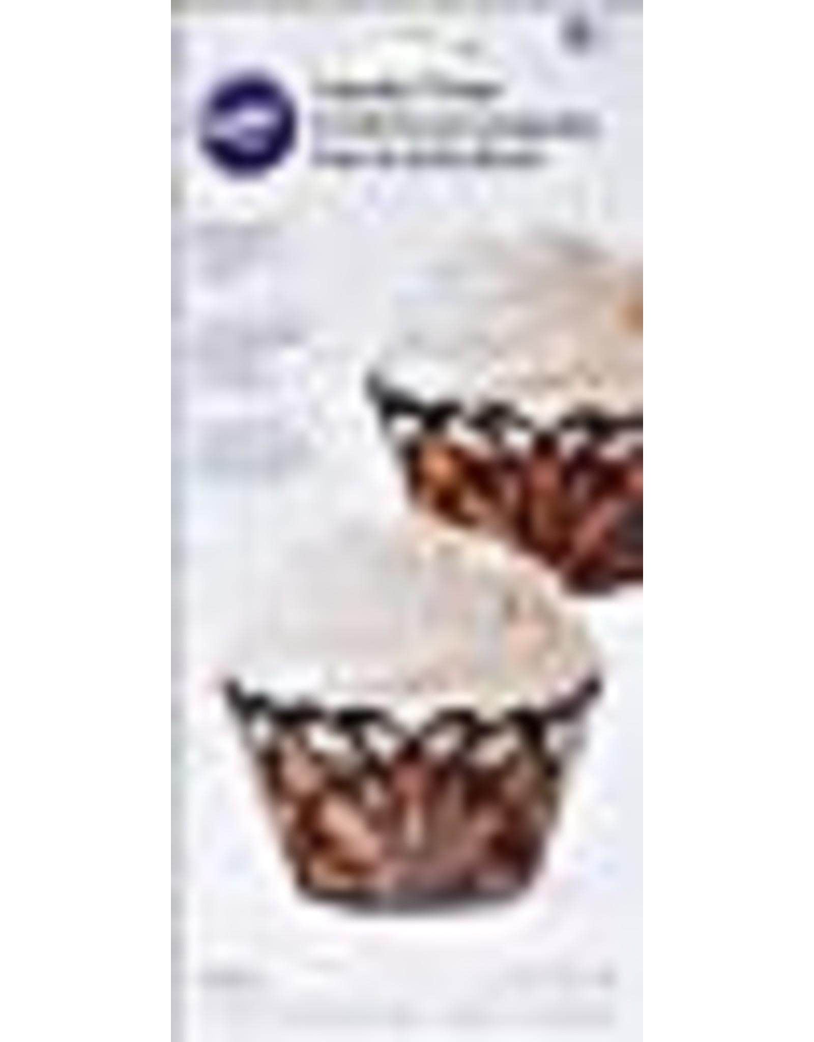 Wilton Wilton 415-0112 Wilton Swirl Cupcake Wraps, Black, 18-Pack