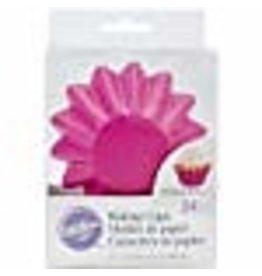 Wilton Wilton 415-0674 24-Pack Wave Baking Cup, Standard, Pink