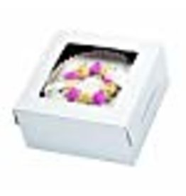 Wilton Wilton White Window Cake Box, for Gift Giving, the Window Lets Your Baking Talent Show Through, 21 x 14 x 5-Inch