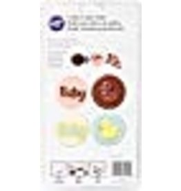 Wilton Wilton Cookie Candy & Mold-Baby 8 Cavities (4 Designs)